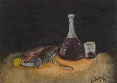Wein und Fische